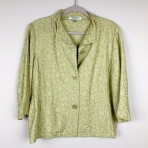 Coldwater Creek // Chartreuse Jacket